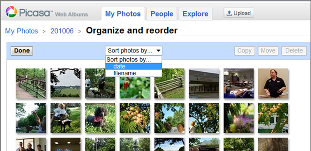 sort photos in picasa web albums � learn picasa and google