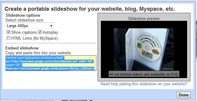 website slideshow