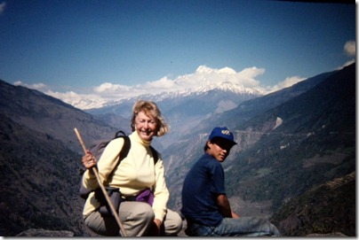 Picture from slide - Mom in Nepal 1980