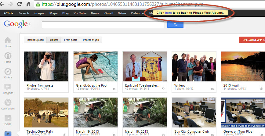 Picasa Web Albums Learn Picasa And Google Photos