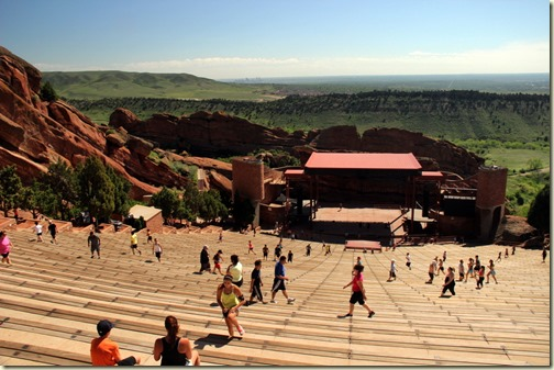 Exercising at Red Rocks Amphitheatre