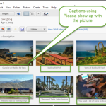 Photo Captions using Google Photos vs. Picasa